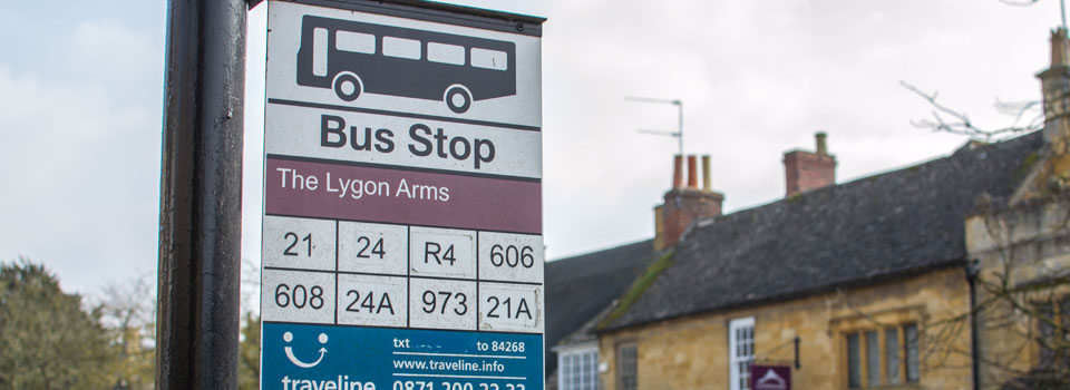 Public Transport Bus Services In Broadway Cotswolds